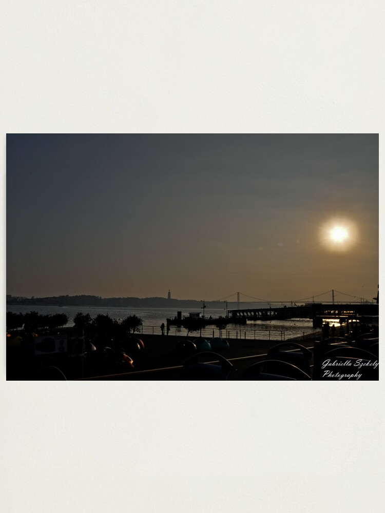Alternate view of Sunset ove the bay Photographic Print