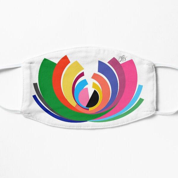 Abstract Lotus Flat Mask