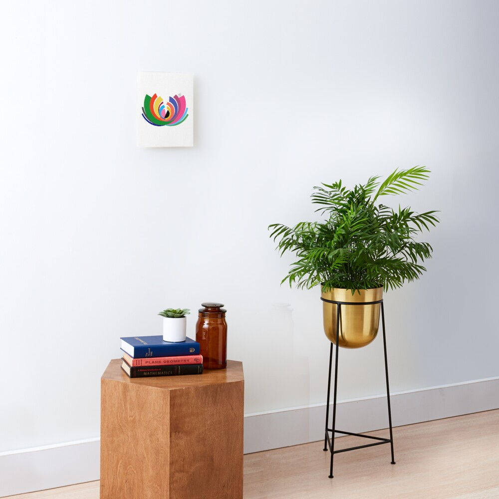 Abstract Lotus Mounted Print