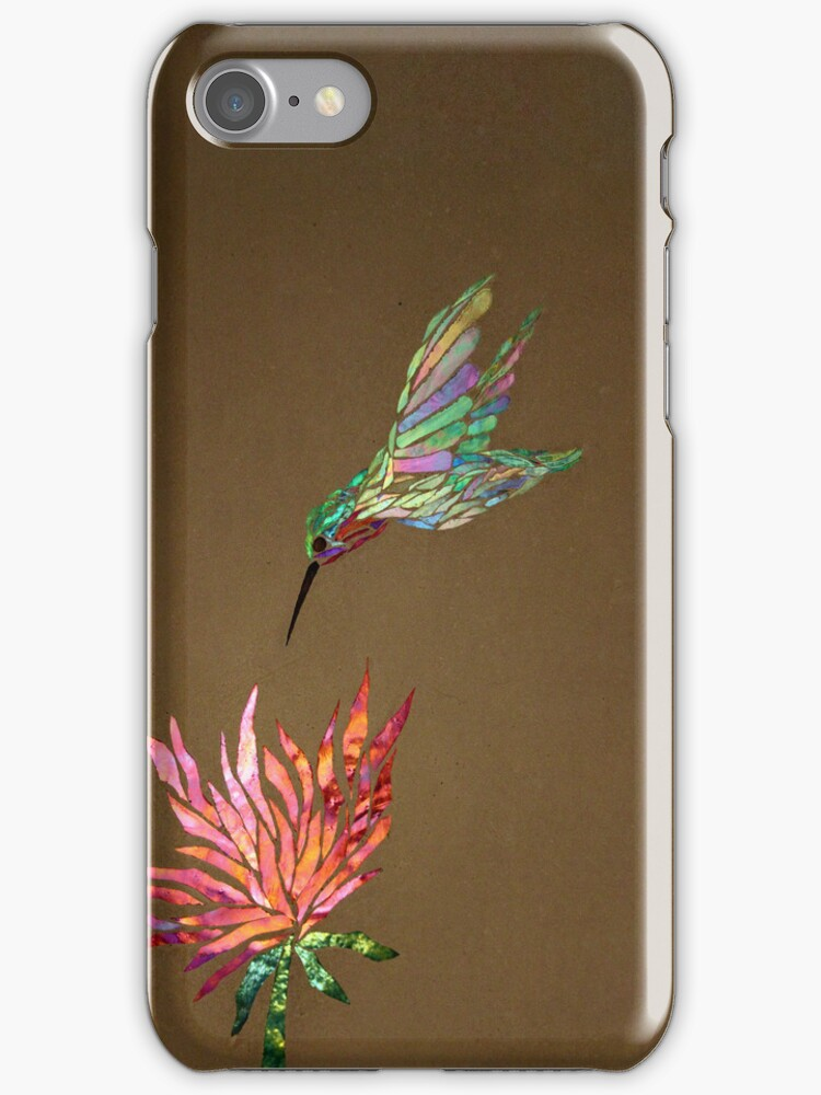Hummingbird iPhone Case by Leslie Guinan