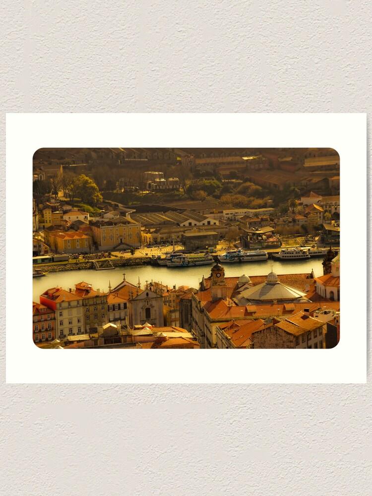 Alternate view of Porto Art Print