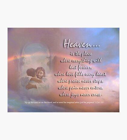 Heaven-in memory of Sean Photographic Print