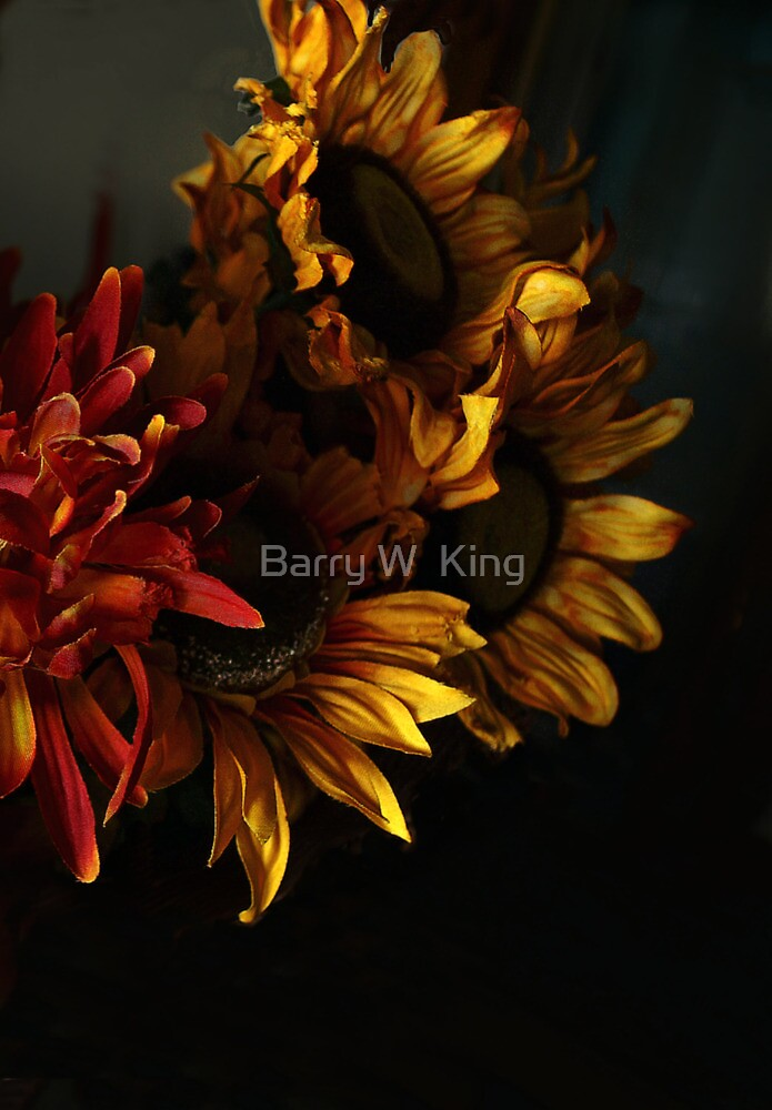 sunflowers by Barry W  King