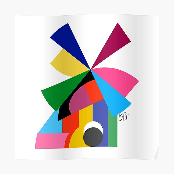 Abstract Windmill Poster