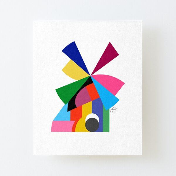 Abstract Windmill Canvas Mounted Print