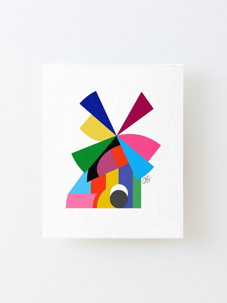 Alternate view of Abstract Windmill Mounted Print