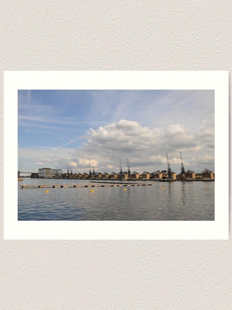 Alternate view of Urban river Art Print