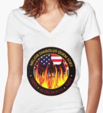 NROL-49 Program Logo Women's Fitted V-Neck T-Shirt