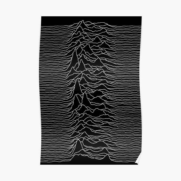 Joy Division - Unknown Pleasures Pulsar Signal Poster