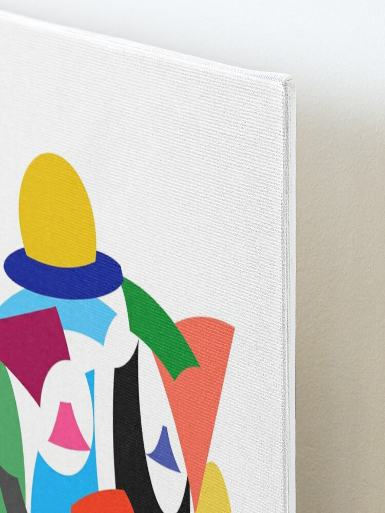 Alternate view of Abstract Clown Mounted Print