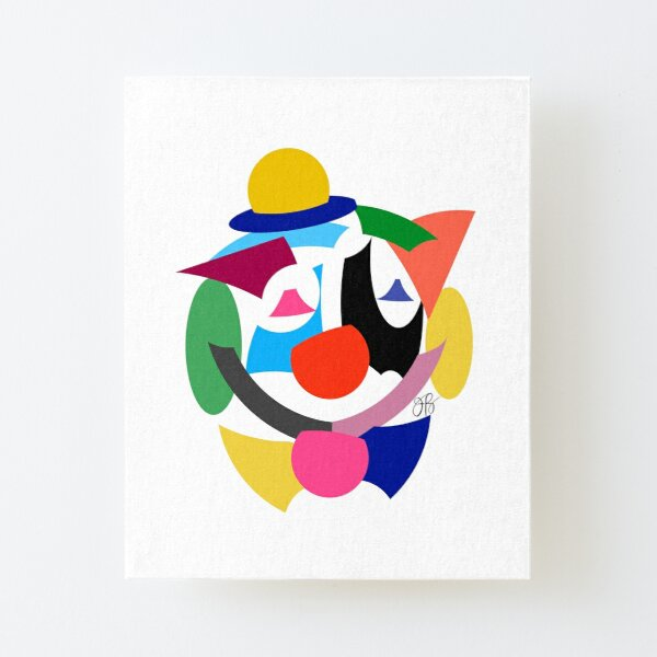 Abstract Clown Canvas Mounted Print