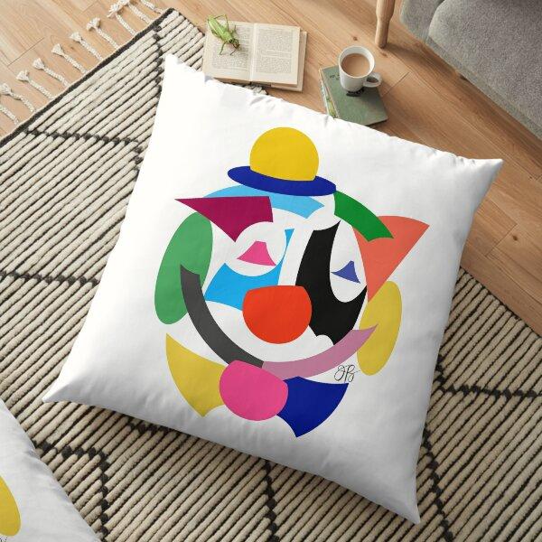 Abstract Clown Floor Pillow
