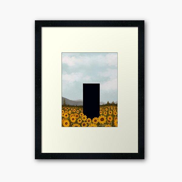 Sonnenblumenmonolith Gerahmter Kunstdruck
