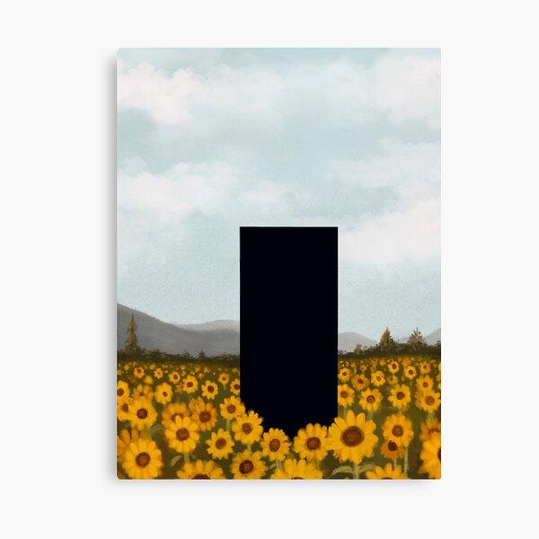 Sunflower Monolith Canvas Print