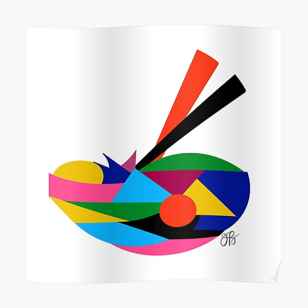 Abstract Ramen Poster