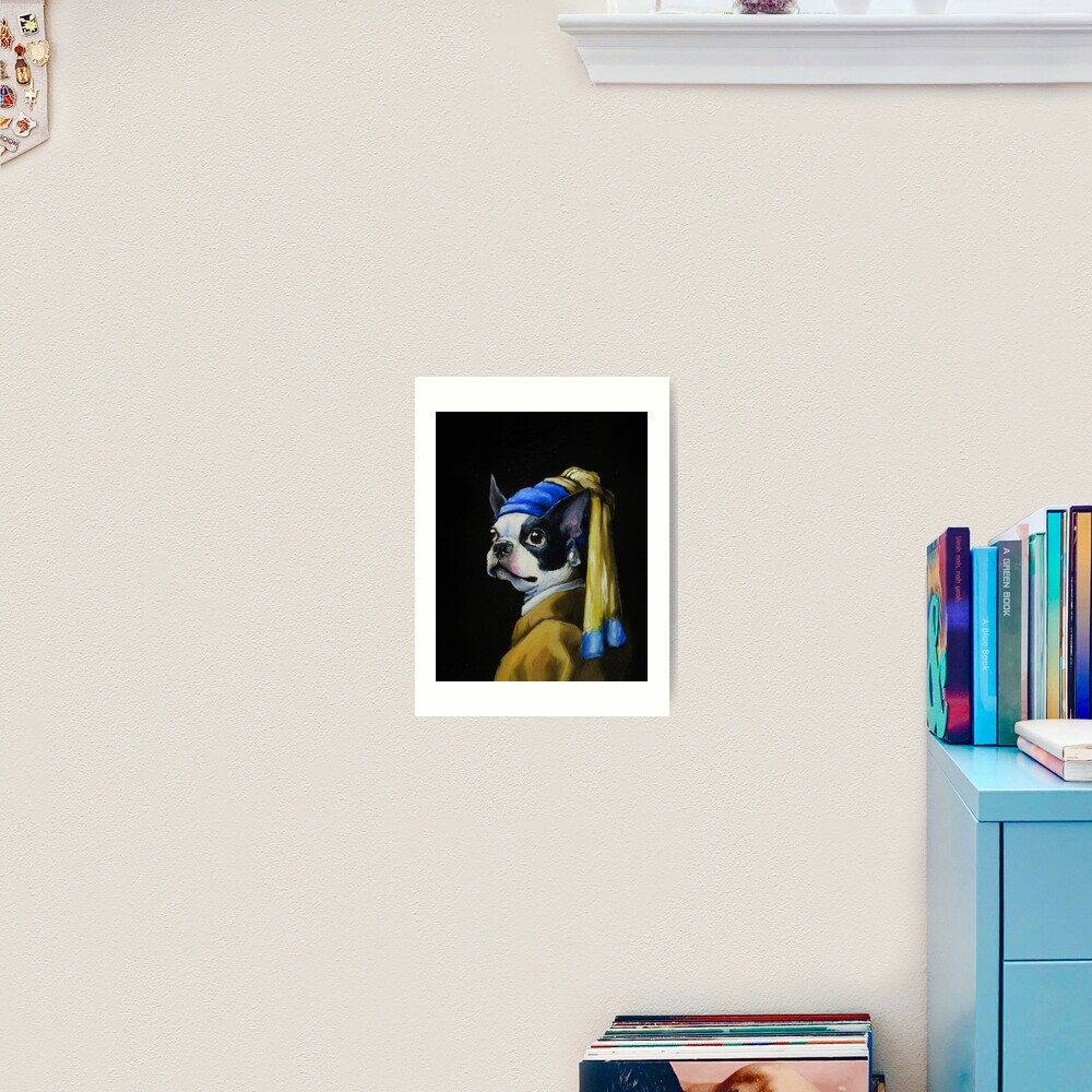 With a Pearl Earring Art Print