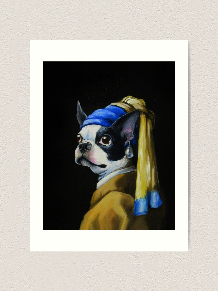 Alternate view of With a Pearl Earring Art Print