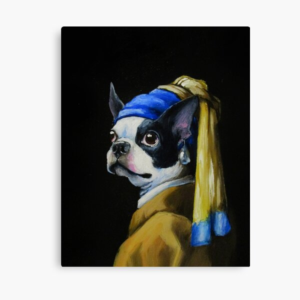 With a Pearl Earring Canvas Print