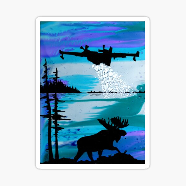 Waterbomber and The Moose Sticker