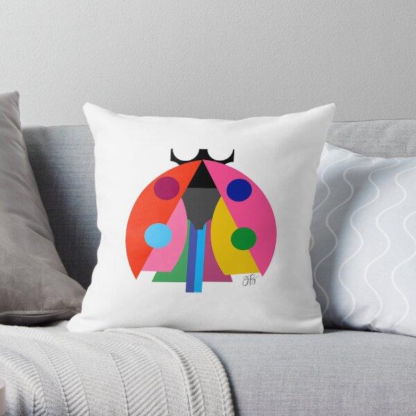 Abstract Ladybug Throw Pillow