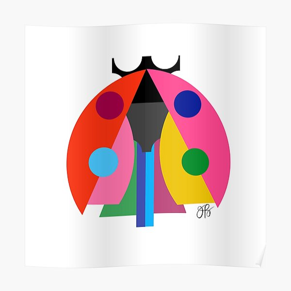 Abstract Ladybug Poster