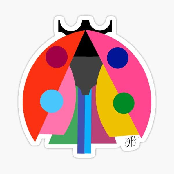 Abstract Ladybug Sticker