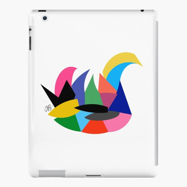 Abstract Swan iPad Snap Case
