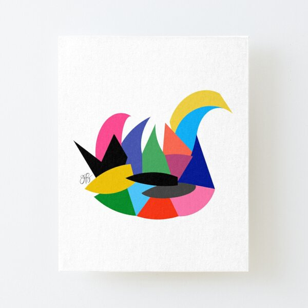 Abstract Swan Canvas Mounted Print