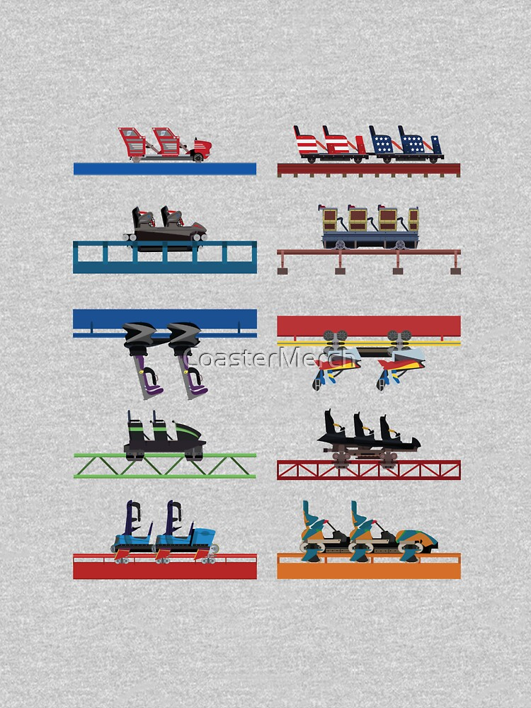 Six Flags Over Georgia Coaster Cars Design by CoasterMerch