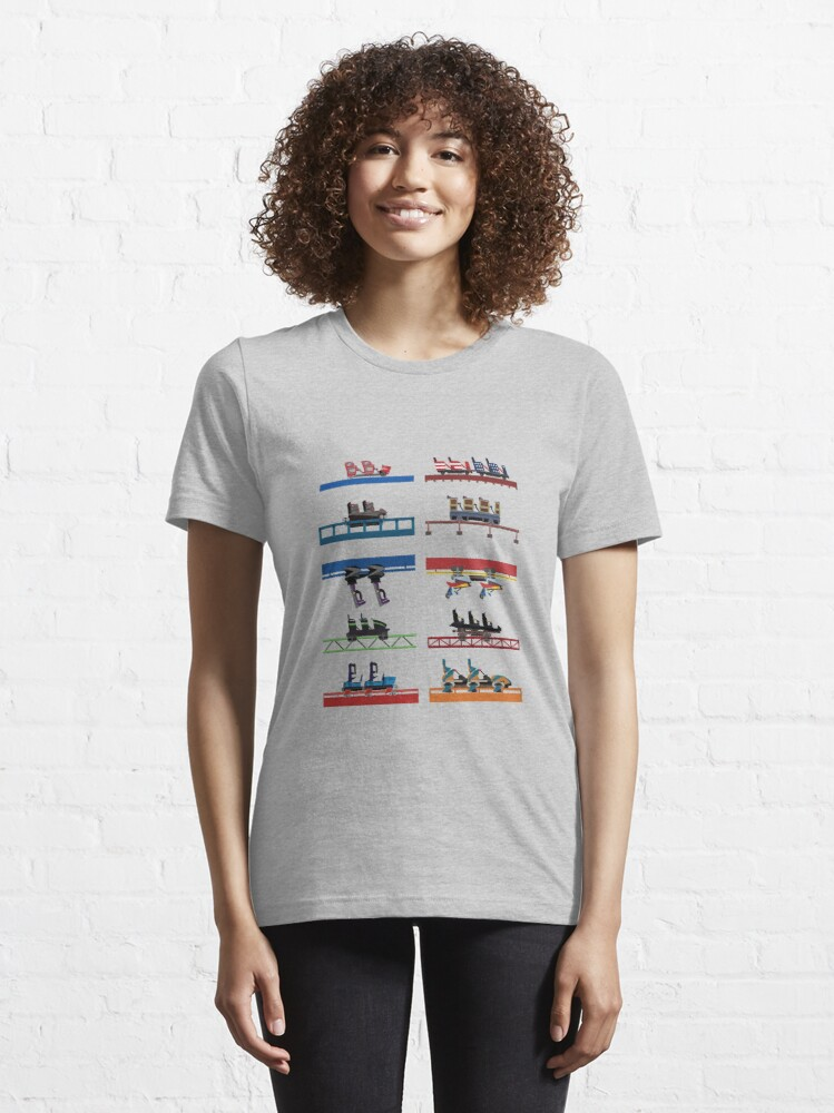 Alternate view of Six Flags Over Georgia Coaster Cars Design Essential T-Shirt