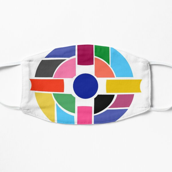 Abstract Cross Flat Mask