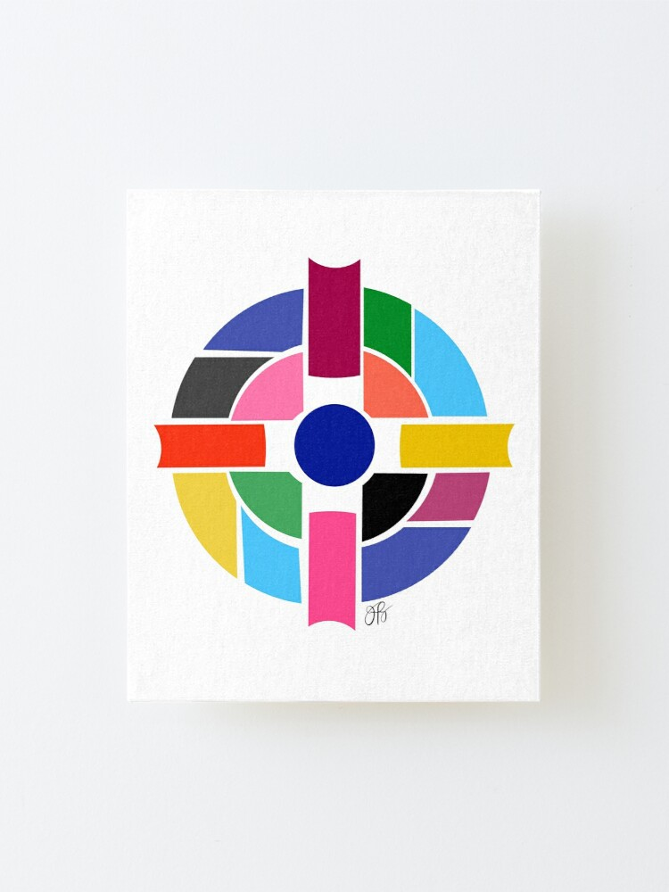 Alternate view of Abstract Cross Mounted Print