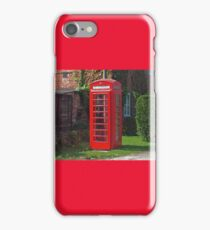 The Red Telephone Box iPhone Case/Skin