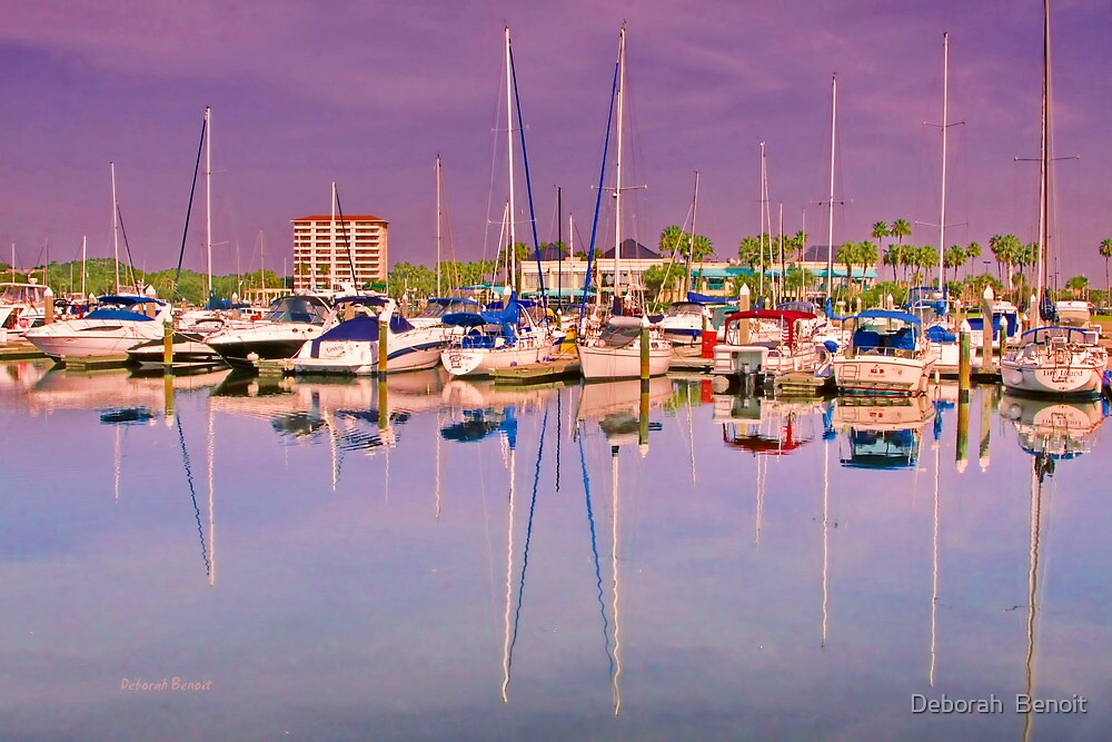 Daytona Beach Boat Dock by Deborah  Benoit