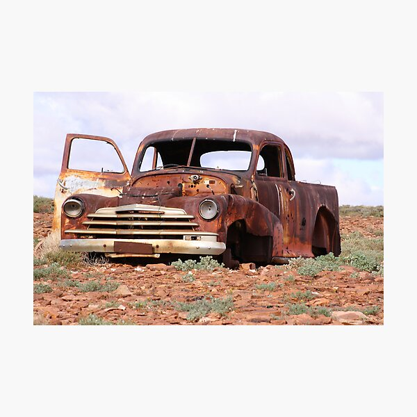 Old Chevy on Arcoona Station Photographic Print