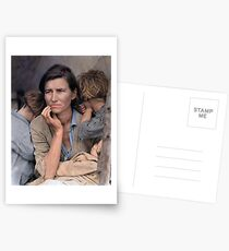 Colorized  - Migrant Mother by Dorothea Lange Postcards