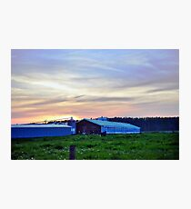 Dusk Farm Photographic Print