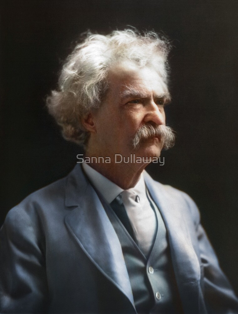 Colorized  - Mark Twain / Samuel L Clemens by Sanna Dullaway