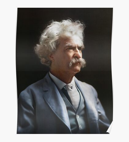 Colorized  - Mark Twain / Samuel L Clemens Poster