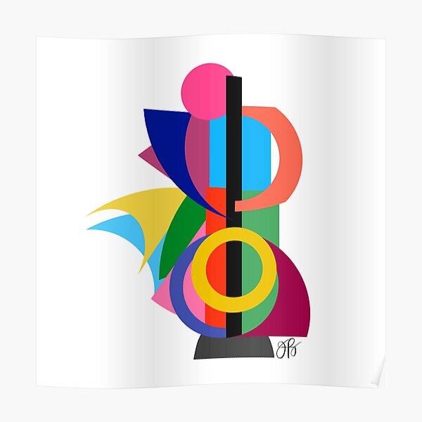 Abstract Cello Player Poster