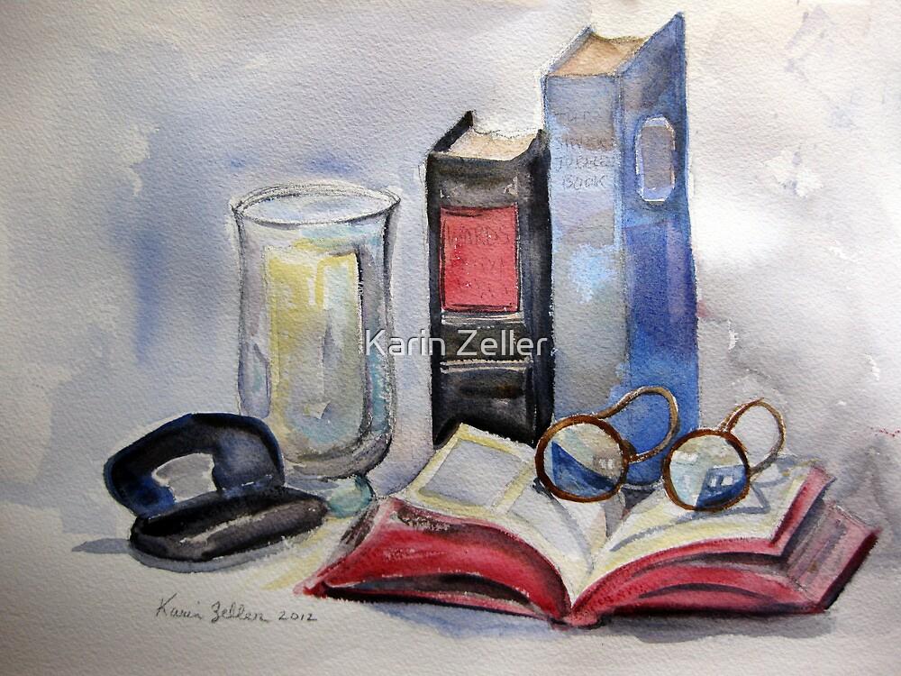 Old books still life by Karin Zeller