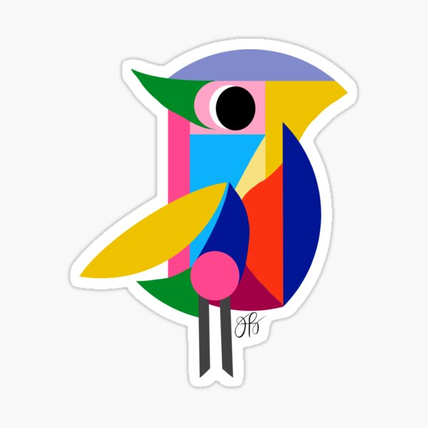 Abstract Bird Sticker