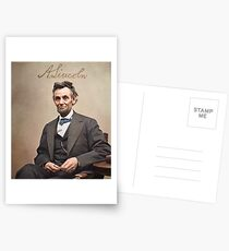 Colorized  - Abraham Lincoln with Signature Postcards