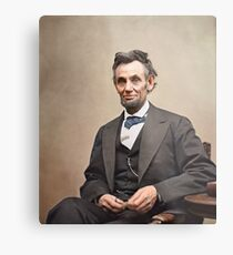 Colorized  - Abraham Lincoln Metal Print