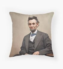 Colorized  - Abraham Lincoln Throw Pillow