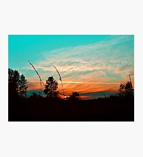 Colorful Farmland Sky Photographic Print