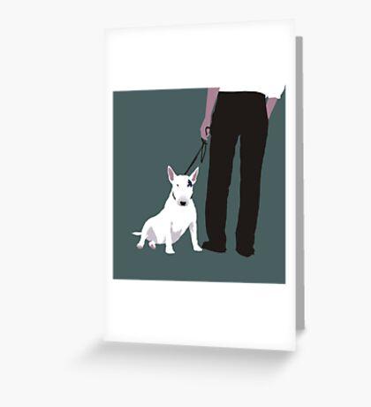 Bull terrier Greeting Card