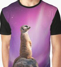 Meerkat In Space Graphic T-Shirt