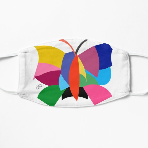 Abstract Butterfly Flat Mask