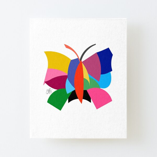 Abstract Butterfly Canvas Mounted Print